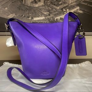 COACH Bleecker Duffel Sac Bucket Bag Purple Iris